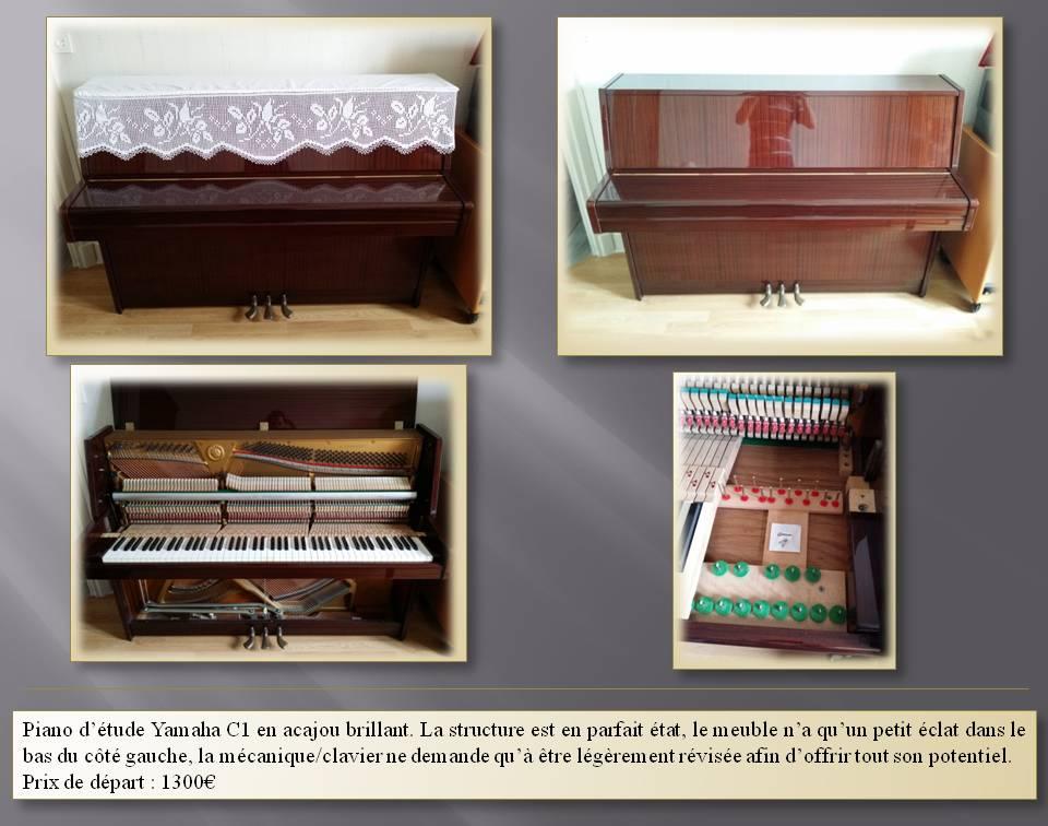 Yamaha C1, piano droit yamaha, vendre piano yamaha, charche yamaha C1, piano droit acajou