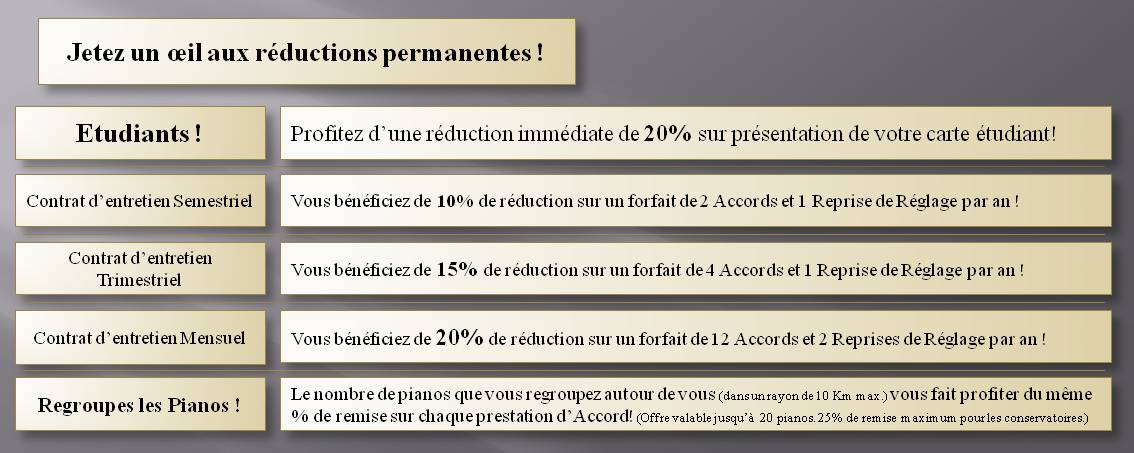 réductions accordage piano, Accord piano pas cher